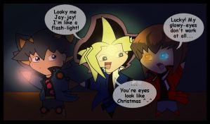 Chibis in a Blackout by Bayleef-
