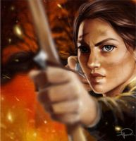 Katniss Everdeen by fatL-ephant