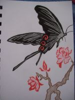 Hell Butterfly tattoo design by EvilAngel9966