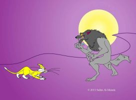 Whiskers Fights A Werewolf by TheUnisonReturns