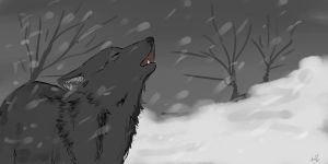 Howling by Umbrellawolf