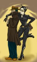 Catwoman and ?? by iesnoth