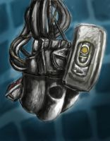 Glados: 30 minute sketch #3 by LOLzitsaduck