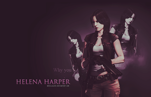Helena Harper RE6 Wallpaper by BriellaLove