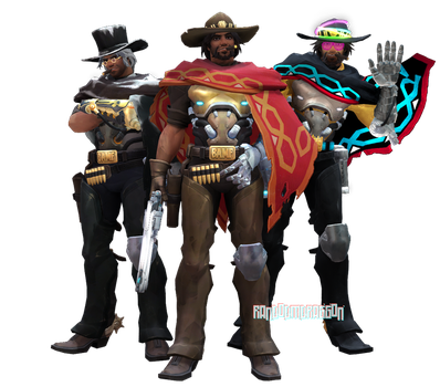 MMDxOverwatch: McCree by RandomDraggon
