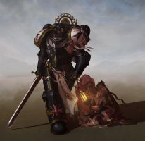 Black Templar: Life in the Shade (WIP 3) by NicholasKay