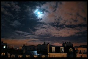 The sky over Paris I by AlphonseLavallee