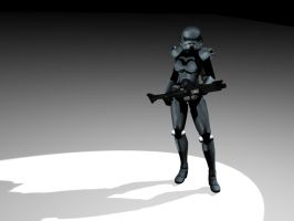 dark trooper girl by lubre53
