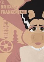 The Bride of Frankenstein - Muppet Monster Poster by Gr8Gonzo