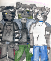 Damien and his brothers by TMNTISLOVE