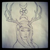 fawn/ person drawing by forevernotsinking99