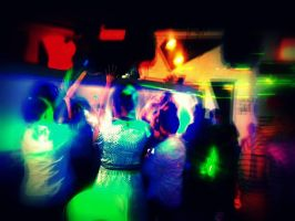 Night Club Colorful Lights by Scyrielle