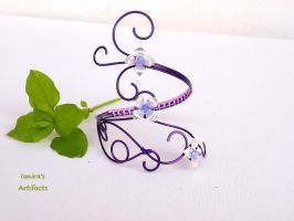 Purple fairy arm bracelet by IanirasArtifacts