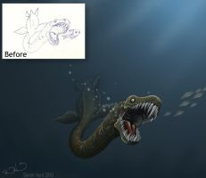 Before after dino by DanielHurd