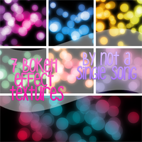 7 Bokeh Effect Textures by notasinglesong