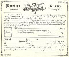 Vintage Marriage Certificate 1 by Bnspyrd