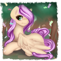 Fluttershy Butterfly by chocolateponi