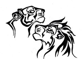 Lion Tattoo Design by Navina