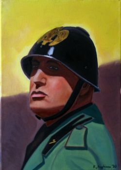 Mussolini by Robopaggy