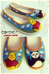 winnie panda shoes by JONY-CAKEP