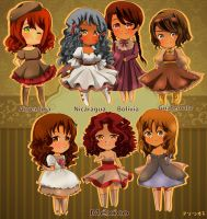 [ APH ] Hetalia Little ladies by XxHikaru00Xx