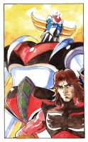 Grendizer and Duke Fleed by Whelljeck