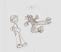 Skater and Ninja by Awesome-Leaf