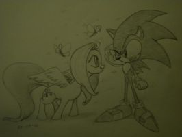 Your too...CUTE!- Sonic by Drawing-elite-9