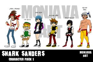 Shark Sanders character pack 1 by monjava