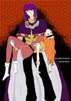 Xellos and Lina by Rinita-Inverse