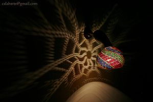 Wall lamp I - 1665 beads - by night by Calabarte