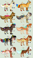 Adoptables by TheFoxFeatherz