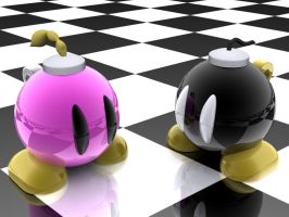 Bombette and Bob-omb by Harder12