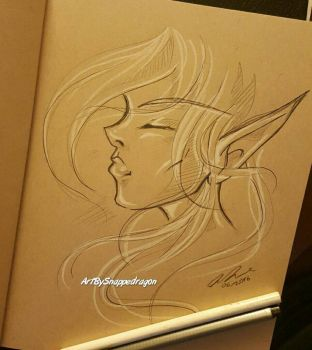 Elf Sketch  by Snappedragon