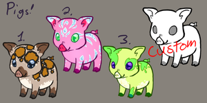 Pig Adoptables- CLOSED by MegaRose
