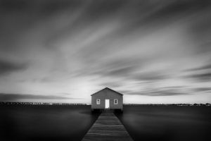 Standing alone- blue house by LEONARDOdarwinCI