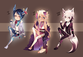 Adopt:: Kemonomimi batch CLOSED by Pandastrophic
