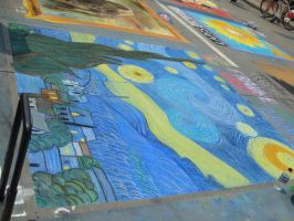 Vincent Van Gogh's Starry Nigh by Feantalia