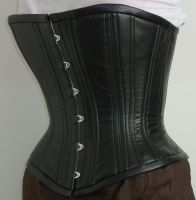 Black overbust corset by LillysWorkshop