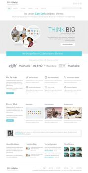 Minimalen Wordpress Theme by sunilbjoshi