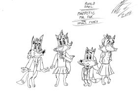 Roald Dahl - The children of Mr. and Mrs. Fox by MortenEng21