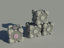 Portal Cubes by tom55200
