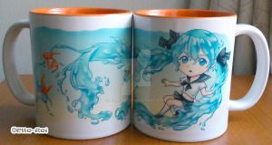 Bottle miku Mug by Elle-Rei
