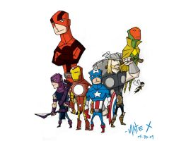 the mighty avengers by the-slift