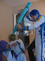Kaito Beat Down by BladeXD