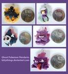 Glow-in-the-Dark Ghost Pokemon Pendants by Bittythings