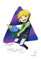 Link and Luki - Birthday gift to MuseGamer by doramsc
