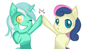Lyra and BonBon Remastered by TheGarry-D