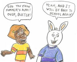 Francine and Buster by dth1971