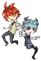 Chibis. Al and Nathan by c-r-y-s